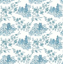 "BHF fd22219 Ami """"Laure blau toile"""" Tapete – Blueberry"