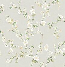 BHF fd22251Ami Delphine Neutral Floral Trail Tapete, Weiß