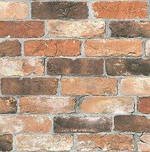BHF fd22300Wieder Bricks Tapete–Orange