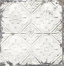 BHF fd22305Wieder Dose Decke Tapete, Weiß