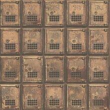 BHF fd22353Wieder Vintage Postfach Boxen Eisernen Tapete–Ros