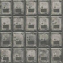BHF fd22355Wieder Vintage Postfach Boxen Metall Stahl Tapete–Anthrazi