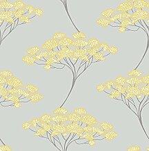 BHF fd22412KJ azmaara banyon Baum Tapete–Grau/Gelb
