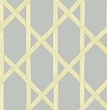 BHF fd22423KJ azmaara Mandara Spalier Tapete–Grau/Gelb