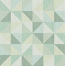 BHF fd22624Geometrie Squares Puzzle Tapete–Grün