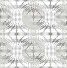 BHF fd22628Geometrie Geo Stripe Optik Tapete–Leinen/silber