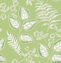 BHF fd22704Mirabelle Blätter grün botanischen Tapete–Grün