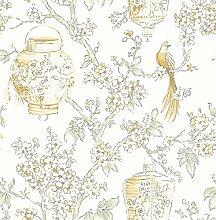 BHF fd22761Mirabelle Laternen Serenity Tapete–Honig/weiß/gelb