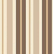 BHF fd40380CERAMICA Streifen Seitenwand, Küche und Badezimmer Tapete–Choc/Gold
