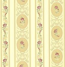 BHF fd68749Gold Claremont clairemont Streifen Tapete–Gelb