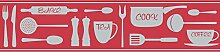 BHF fdb50047CERAMICA Cook Küche und Bad Bordüre, selbstklebend, ro