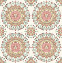 BHF sz001801Rot/Aqua Medaillon Kismet Dream Tapete–Aqua