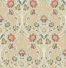 BHF sz001808Kismet Soul Coral Nouveau Floral Tapete