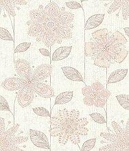 BHF sz001815Kismet Whisper Pink Batik Blumen Tapete