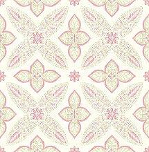 BHF sz001826Kismet Dream Pink Geometrische Blumen Tapete