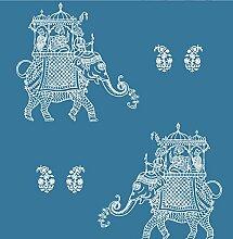 BHF sz001837Kismet Fly Blau Elefant Tapete