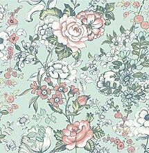 BHF sz001846Kismet Dream Aqua Boho floral Tapete