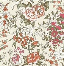 BHF sz001848Kismet Soul Rot Boho floral Tapete