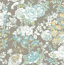 BHF sz001849Kismet Wander grau boho Floral Tapete