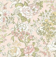 BHF sz001850Kismet Whisper Pink Boho Blumen Tapete