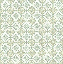 BHF sz001851Kismet Dream grün Vierpass-Tapete