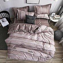 BHFDCR Bettbezug Bettwäsche Set 3 Teilig Gelber