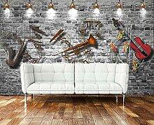 BHGJM 3D-Tapete, Retro, Vintage, Ziegelmauer, für