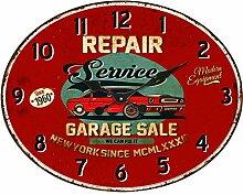 BHP Design Quartz Wand Uhr Oldtimer Aufdruck