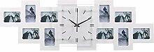 BHP Foto Wand Uhr 10x Bilder Rahmen Wohnraum Glas