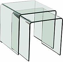 BHP Glastisch 2tlg ausziehbar Wohn ESS Zimmer