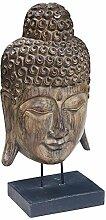 BHP Luxus Deko Figur Kopf Buddha Holz Albasia