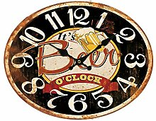 BHP Retro Stil Quartz Wand Uhr Beer Schriftzug