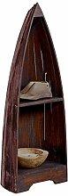 BHP Stand Holz Regal Bücher Schiff Form Mahagoni