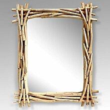 BHP Wand Schmink Bad Kosmetik Spiegel Teak Holz