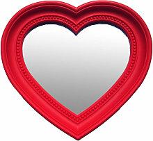 BHP - Wand Schmink Spiegel Glas Herz Form rot