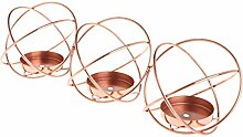 Bhty235 Teelichthalter 3D rund Kerzenständer