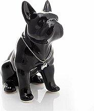 BHUIJN Skulptur Tier Keramik Bulldogge Hund Statue