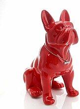 BHUIJN Skulpturen Keramik Bulldogge Hund Statue