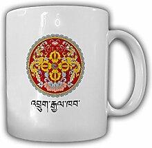 Bhutan Flagge Fahne Königreich Emblem - Tasse Becher Kaffee #13417