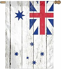 BI HomeDecor Yard Flags,Australische Weiße Fahne