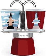 BIALETTI Espressokocher Mini Express Magritte, (1