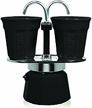Bialetti Espressokocher Set mit 2 Espressobechern,