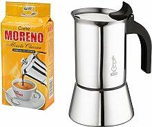 Bialetti Venus Espressokocher 6 Tassen, Edelstahl,