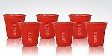 Bialetti Y0TZ503 Espressobecher, Glas, Rot, 2,35 x