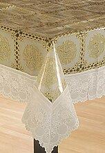 Bianca Pvc-Tischdecke Blumendruck Abdeckungstischdecke - Größe Verfügbar
