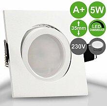 BIANCO 1er Set 230V LED 5W dimmbar Decken