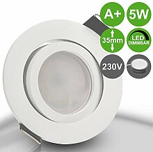 BIANCO 5er Set 230V LED 5W dimmbar Decken