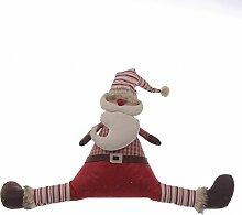 biazd xs004Türstopper Weihnachtsmann, Acryl, rot, 69x 6x 43cm