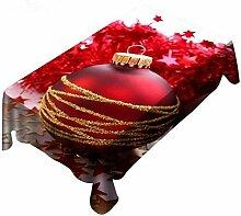 Biback Weihnachtliche Tischdecke - Rot Rechteckige