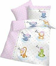 Biber Baby-Bettwäsche Sterne Schlafende Zoo Tiere